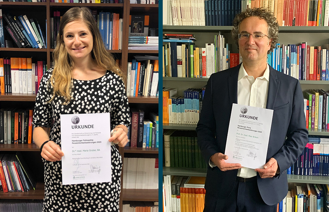 Doktorin Maria Gruber und Professor Doktor Peer Briken (Foto: GePs e.V.)
